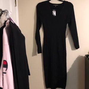 Ribbed Long Sleeve Bodycon Dress